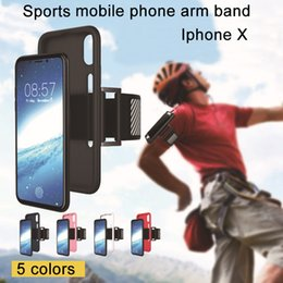 Wholesale Iphone Phone Sport Shell - For iphone X case Mobile phone bag Arm pack sports package iphone 8 7plus 6S 5S Silicone cases Galaxy s8 plus s7 edge shell protector cover