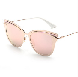 Wholesale Rose Glass Shade - Contain Rose Gold!2016 New Retro Alloy Cat Eye Sunglasses Cosy Shades Men Women Designer Eyewear Glasses Oculos sun-stone 1843
