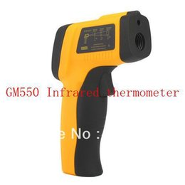 Wholesale Laser Thermometers Wholesale - New Non-Contact Digital IR Infrared Thermometer Laser Point GM550 Temperature Meter -50~550C ( -58 ~ 1022F) 5pcs lot Free Shipping