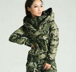 Fleece Winter Style Jacken Terry Stoff Freien Im Military Bomber Kostenloser Versand Stehkragen Frauen Camouflage ARc3LqS4j5