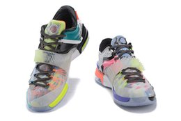 Wholesale kd size 12 men - Wholesale 2016 new low Kevin Durant KD 7 Basketball Shoes men KD7 Sports Shoe Athletic mens Running shoes size 7-12 40-46