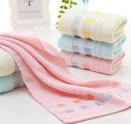 Wholesale Grid Roll - 100% Cotton Grid Lace Face Towels High Quality Wash face Bath Use Towels House dailyuse Towels