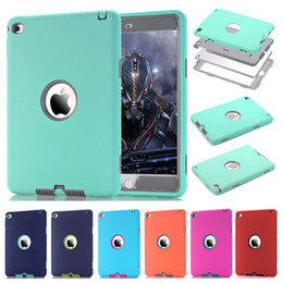 Wholesale Ipad Case Stylus Pen - For iPad mini 4 Retina Kids Safe Armor Shockproof Heavy Duty Silicone Hard Case Cover w Screen Protector Film+Stylus Pen