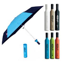 Wholesale Wine Bottles For Sale Wholesale - Creative High Quality Wine Bottle Umbrellas Colored Brand Manual 3 Folding Mini Clear Rain Umbrella For Sale