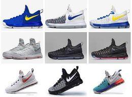 2016 heißer Verkauf KD 9 Herren Basketball Schuhe KD9 Oreo Grey Wolf Kevin Durant 9s Männer Training Sport Turnschuhe Krieger Home US Größe 7-12 von Fabrikanten