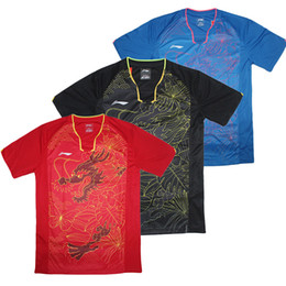 Wholesale team jerseys china - Rio 2016 Li-Ning table tennis shirt Men's,Zhang JiKe Jersey pingpong tshirt China Table Tennis Team uniforms ,Ma Long Jerseys