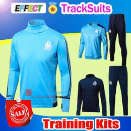 Wholesale Men S Training - 2017 Marseille AC Milan Training Suits 17 18 Real Madrid Tracksuits Maillot de foot shirts 3A+ Survetement Soccer Jerseys Long Sleeve