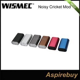 Wholesale Hybrid Mods - 100% Authentic Wismec Noisy Cricket Mod SMPL Style Button Hybrid Adaptor Bottom 18650 Box Mod Best For Indestructible RDA Atomizer