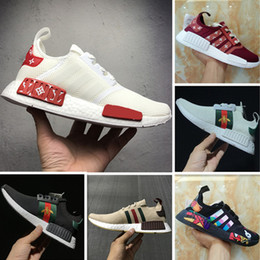 Wholesale Graffiti Fabric - Casual Shoes 2017 Boost NMD R1 x Jointly and Kaws Graffiti Boost Running shoes Superior Quality