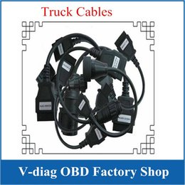 Wholesale Truck Prices - Better Quality And Lower Price Free Diagnostic TCS CDP Pro Cables Trucks Full Sets With 8 Cables For Trucks Shipping