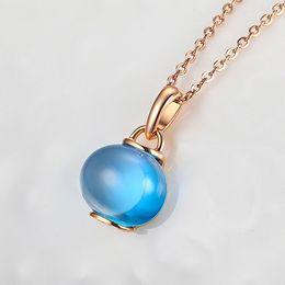 Wholesale Blue Topaz Necklaces - Kingco Brand 2015 New Vogue SummerShadesOfBlue Topaz Pendants Jewelry For Female DC0170