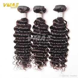 Wholesale Virgin Brazilian Hair Best Products - BEST QUALITY VMAE Brazilian Deep Curly Virgin Hair Hair Products Brazilian Deep Wave 3 Bundles Brazilian Hairpiece Weave Bundles Human Hair
