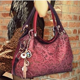 Wholesale Dinner Package Bag - Wholesale-Hot Casual PU Leather handbag bag fashion leisure shoulder hollow out a woman messenger bag dinner packages C1066