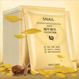 Wholesale Snail Facial - Bisutang Snail Mask Moisturizing Face Mask Oil Control Shrink Pores Facial Masks Snail Dope Mask Paste Skin Care
