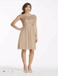 Wholesale Mesh Size Chart - Custom Made 2016 Short Metallic Lace and Mesh Dress F17019M Bridesmaid Dress Cap Sleeve scoop Cheaper Dresses