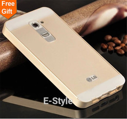 Wholesale Lg G2 Cover Back - Wholesale-G2 Ultra thin 2 in 1 Aluminum Metal Frame + Acrylic Glass Back Cover Case for LG G2 D802
