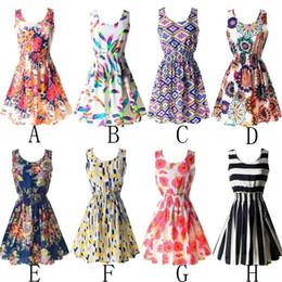 Wholesale Wholesale Silk Dresses - Sexy Women Lady Chiffon Slim Floral Dress Princess Beach Sundress