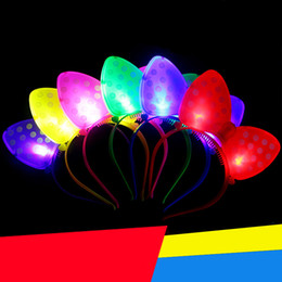 Wholesale Metal Toy Bow - The new light bow hair clip hoop concert Christmas party supplies hot stalls toys free shipping