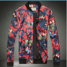 Wholesale Collar Stand Design - Free Shipping 2016 Winter New Arrival Fashion Personality Camouflage Jacket Famous Design European Styel Mens Casual Jacket Hot Sale