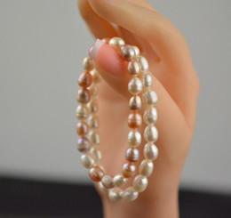 commander des bijoux Promotion Grosses soldes! Nouveau Mode 7-8mm Naturel Perle Bracelet Coloré Perle Breloque Bracelet Bijoux De Mariage Ordre Mixte 10 pcs