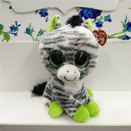 Wholesale Video Game Beanie - 2017 25cm Cute TY big eyes plush toys TY animal doll beanie boos Meng kids dolls gift