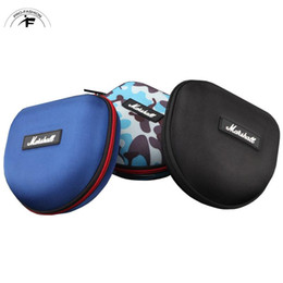 Wholesale Hard Wire - Headphone case For Earphone Storage Carrying Box Case Hard Bag Protetive Plastic Dirt-ressitant Waterproof TF Card For Marshall Headphone