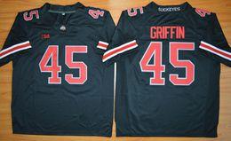 Wholesale Jersey Cap Shorts - Ohio State Buckeyes Archie Griffin 45 Men's cheap football Jerseys College Men's short-sleeved football sportswear black Size S-XXXL