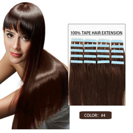 Wholesale Taped Wefts Hair Extensions - Hot Sale #4 Grade Skin Wefts Hair Extensions 100% Real Hair Tape In Real Hair Extentions 16-24Inch 30-50g