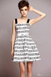 Wholesale high fashion music - Free shipping good quality high grand Fashion Party Evening Elegant Women's Gowns Music Note Dress With Musical Notes Lady Dress