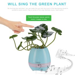 Wholesale Smart Led Night Light Touch - USB Charge Smart Music Flower Pots Bluetooth Speaker LED Decoration Night Light Touch Sensors Stress Relief Toy for Child Gift
