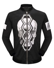 Wholesale Leather Mens Shirt Xl - Round neck Mens Sweatshirts Hoodies With Zippers Winter Long Sleeve Shirts Leather Mens Jackets Skulls & Diamonds 3D Printed Sportwear 5158