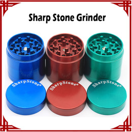 Wholesale Light Stones Wholesale - [ sp ] Sharp stone Grinders Zinc Alloy Herb Grinders Smoking 55mm 4 parts grinders Metal Grinder vs lighting grinders