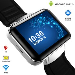 Wholesale Android Mtk6572 - Android Smart Watch Phone MTK6572 Quad Core DM98 Bluetooth Smartwatch 3G SIM Wifi GPS Sports Watches WCDMA Smartphone