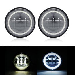 """Wholesale Motorcycle Lamp Led Auxiliary - Ironwalls 4.5"""" CREE Chips Motorcycle LED Auxiliary Passing Light With Angel Eye Halo Ring 30W 6000K Head Lamp For Harley DRL"""