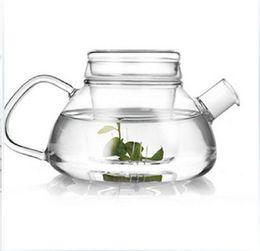 Wholesale Heating Pot - Hot sale Creative Glass tea pot set glass filter heat-resistant Convenient Office Tea Pot coffee pot