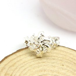 Wholesale Galadriel Silver - Hot Sale Wholesale Price Of Elf Queen Jewelry Silver Galadriel Flower Zircon Ring The Hobbit free shipping