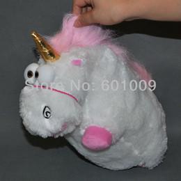 Wholesale Despicable Fluffy Unicorn Plush - Wholesale-Free Shipping EMS 50 Lot Despicable Me Fluffy Unicorn Plush Toy Doll big 12 inch Fluffy figure gift