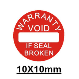 Wholesale Printing Paper Stickers - 500pcs lot Diameter 10 mm Warranty sealing label sticker void if seal broken damaged, Universal with years and months for