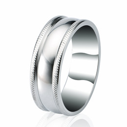 Wholesale China Factory Outlets - Free Shipping Rellecona Factory Outlets Men's Stainless Steel Ring Wedding Band Dome Ring for Man Christmas Gift