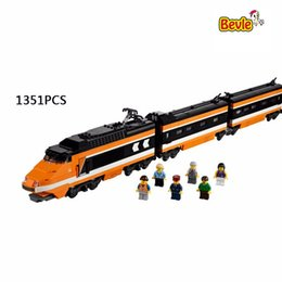 Wholesale Train Series Brick - Lepin 21007 Technic Series The Horizon Express Model 10233 Horizon Train Educational Building Blocks Bricks Toys 1351pcs Gift