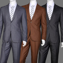 Wholesale Traje Pants - Wholesale-2016 New Fashion Design Business Men Suits Good Material For Wedding Traje Long Sleeves (Jacket+Pants) Size For M-5XL
