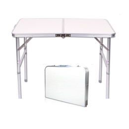 Wholesale Portable Folding Tables - New 4FT Adjustable Heigt Outdoor Portable Aluminum Camping Picnic Folding Table