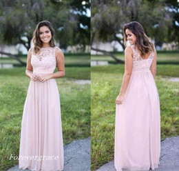 493a8a3c4edf3 2017 Cheap Light Pink Chiffon Bridesmaid Dress Long Gala Garden Country Formal  Wedding Party Guest Maid of Honor Gown Plus Size Custom Made inexpensive ...