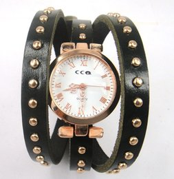 Wholesale Old Quartz Watches - gold women's Wristwatchs retro old Roman scale Cowhide leather watch
