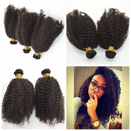 Wholesale Mongolian Kinky Curl Weave - Brazilian Human Hair Weaves Extensions kinky curl Bundles Dyeable 35g pcs Best Quality G-EASY Hair products