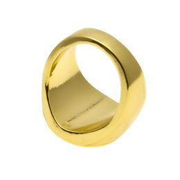 Wholesale Rings Size 11 Men - Hip Hop Ring Hummen Head Portrait Rings 24 K Gold Silver Plated Tideway For Men Size 7 8 9 10 11 12