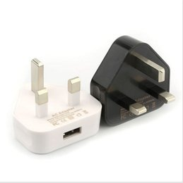 5 V 1A carregador de parede usb uk adaptadores uk plug home travel carregadores de 3 pinos plugue perna usb adaptador de energia de carregamento para iphone 5 se 6 s plus s7 borda cheap pins legs de Fornecedores de pinos