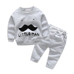 Wholesale Green Beard - 2017 Boys Baby Clothing Sets Beard Jackets Pants 2Pcs Set Spring Autumn Cotton Toddler Casual Apparel Boutique Clothes Outfits
