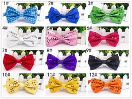 Wholesale Women Toys Clip - Clown tie Carnival Party Bow Tie paillette bow sequin Nicktie cos clothes sequin tie multicolour bow tie Halloween Christmas Toys Sequin clo