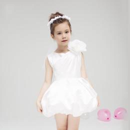 Wholesale Chiffon Miniskirt - Latest chiffon small round collar dress has the miniskirt of handmade flower decoration flower girl dress is high quality